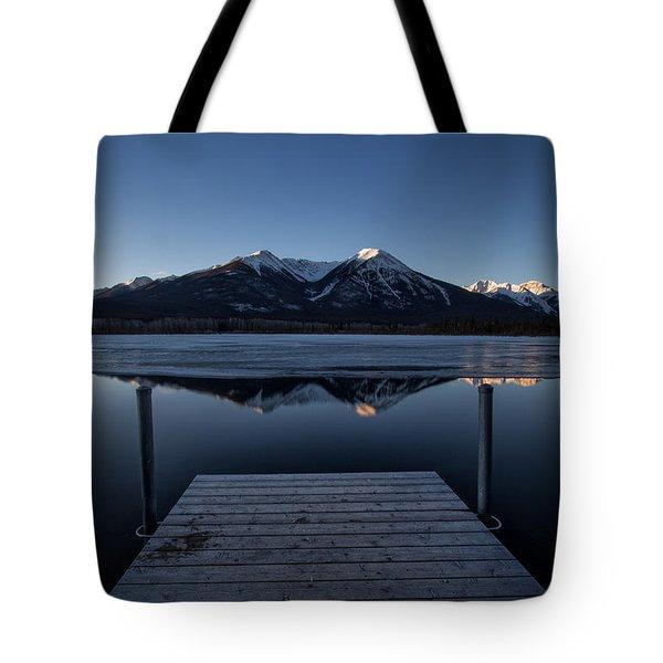Vermillion Lakes At Dawn Tote Bag