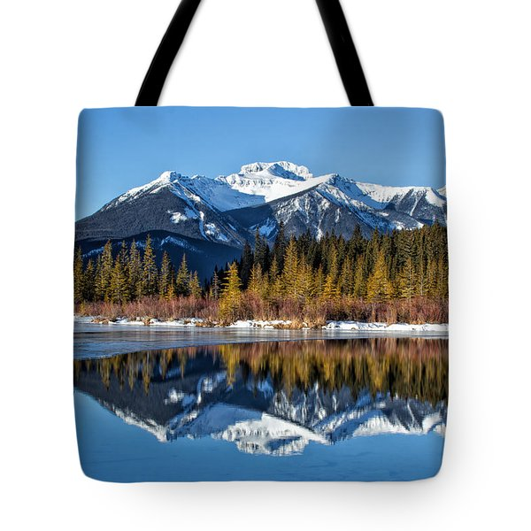 Vermillion Reflections Tote Bag