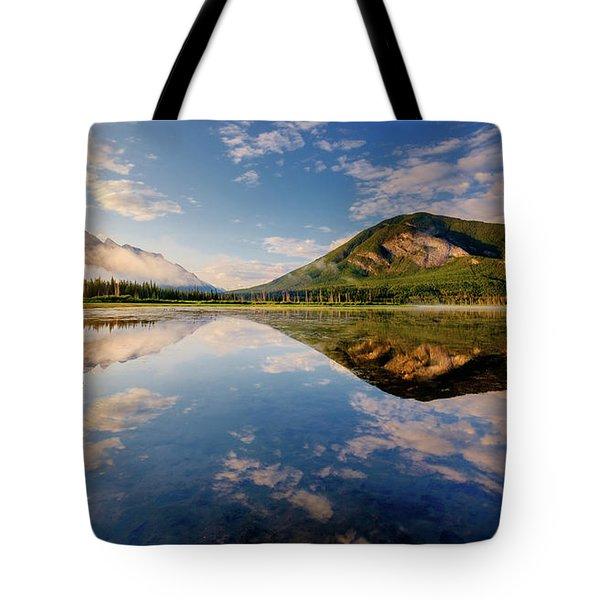 Vermilion Reflections Tote Bag