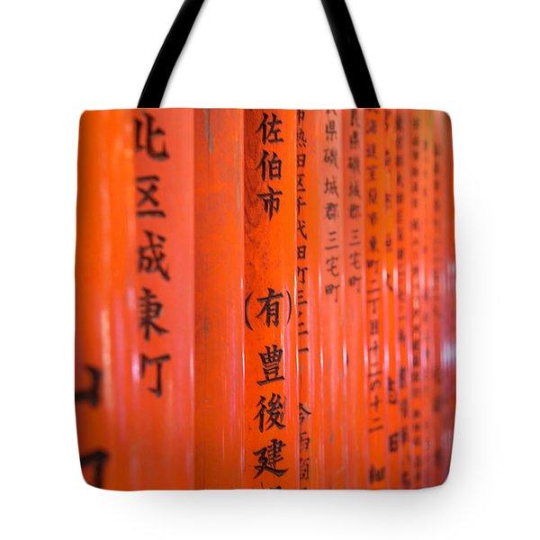 Vermillion Torii I Tote Bag