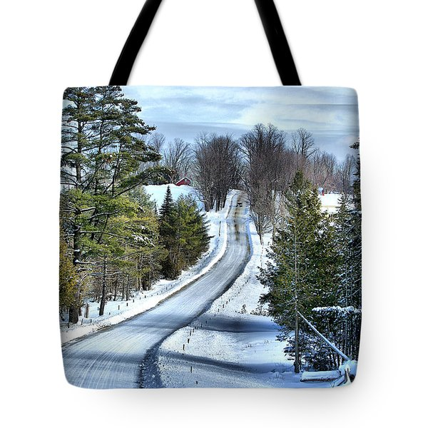Vermont Country Landscape Tote Bag by Deborah Benoit