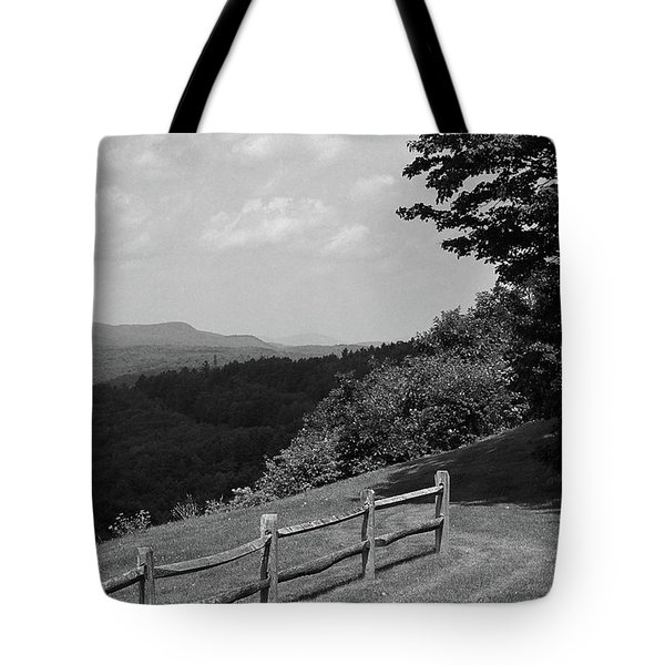 Tote Bag featuring the photograph Vermont Countryside 2006 Bw by Frank Romeo
