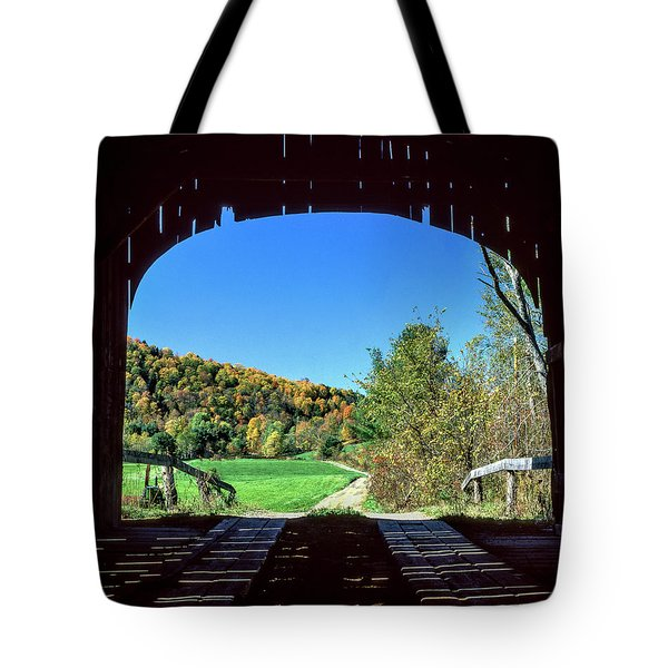 Vermont Covered Bridge Tote Bag