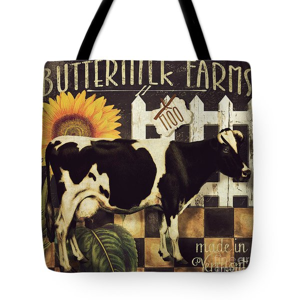 Vermont Farms Cow Tote Bag