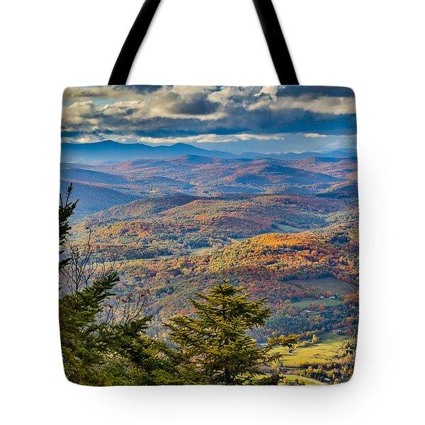 Vermont Foliage From Mt. Ascutney Tote Bag