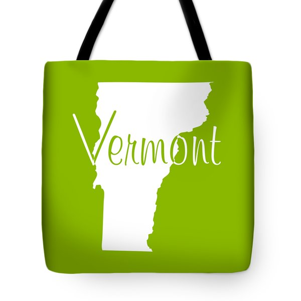Vermont In White Tote Bag