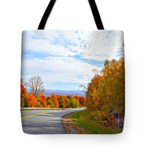 Vermont Mountain Road Tote Bag by Catherine Sherman