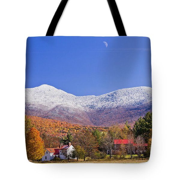 Vermont October Moonrise Tote Bag by Alan L Graham