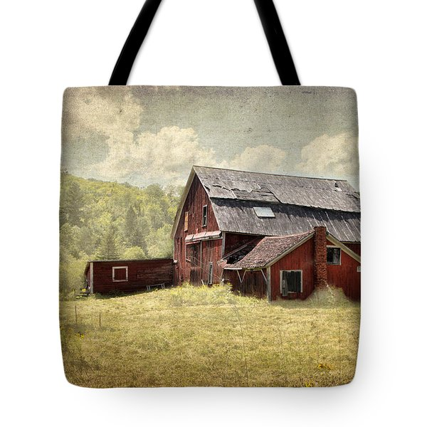 Vermont Red Barn  Tote Bag