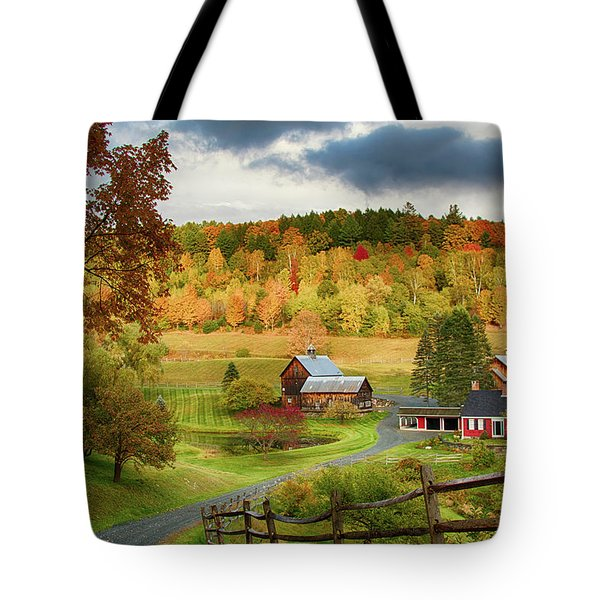 Tote Bag featuring the photograph Vermont Sleepy Hollow In Fall Foliage by Jeff Folger
