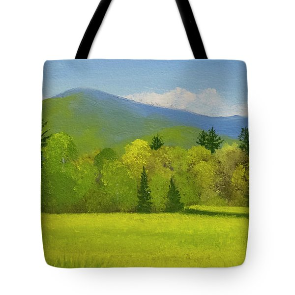Tote Bag featuring the painting Vermont Spring by Frank Wilson
