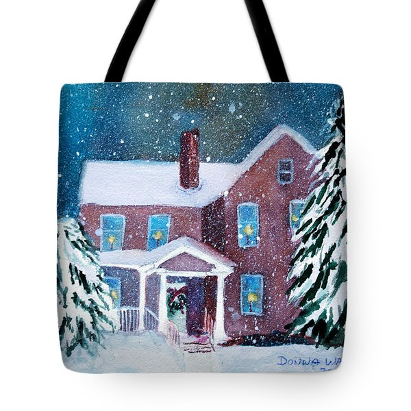 Vermont Studio Center In Winter Tote Bag by Donna Walsh
