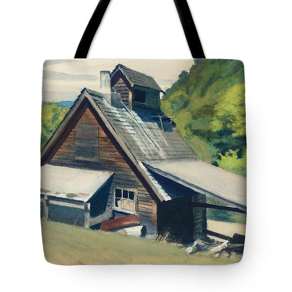 Vermont Sugar House Tote Bag by Edward Hopper