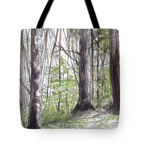 Vermont Woods Tote Bag