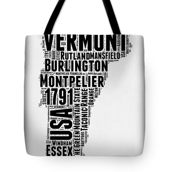 Vermont Word Cloud 2 Tote Bag