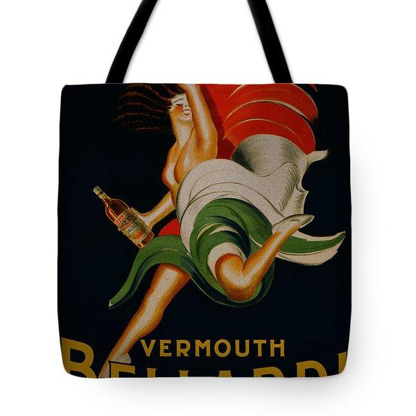 Vermouth Bellardi Torino Vintage Poster Tote Bag