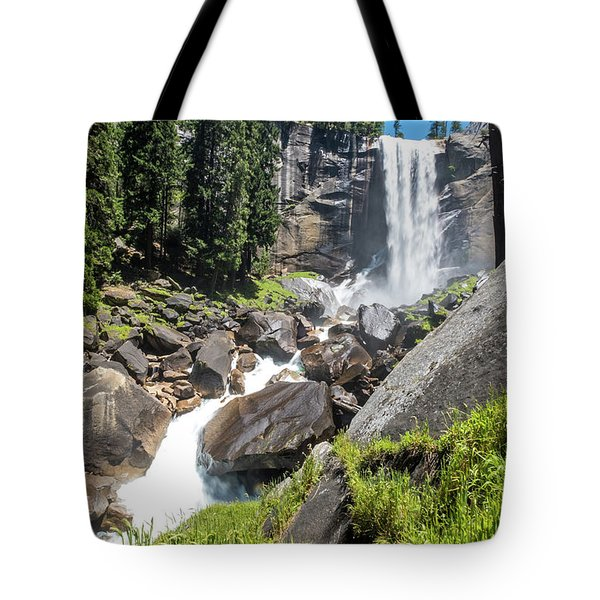 Tote Bag featuring the photograph Vernal Falls- by JD Mims