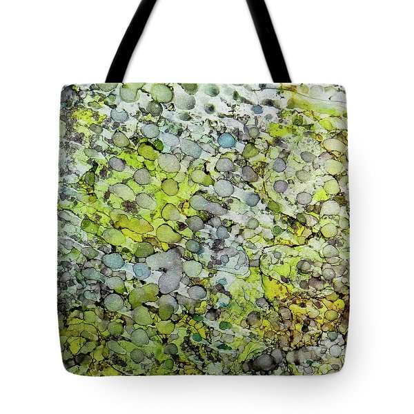 Tote Bag featuring the painting Vernal Showers Ink #12 by Sarajane Helm