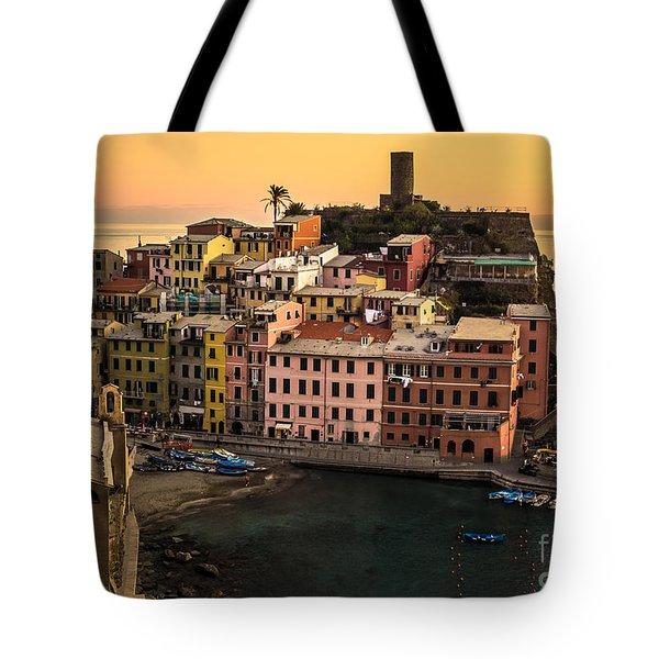 Vernazza At Sunset Tote Bag