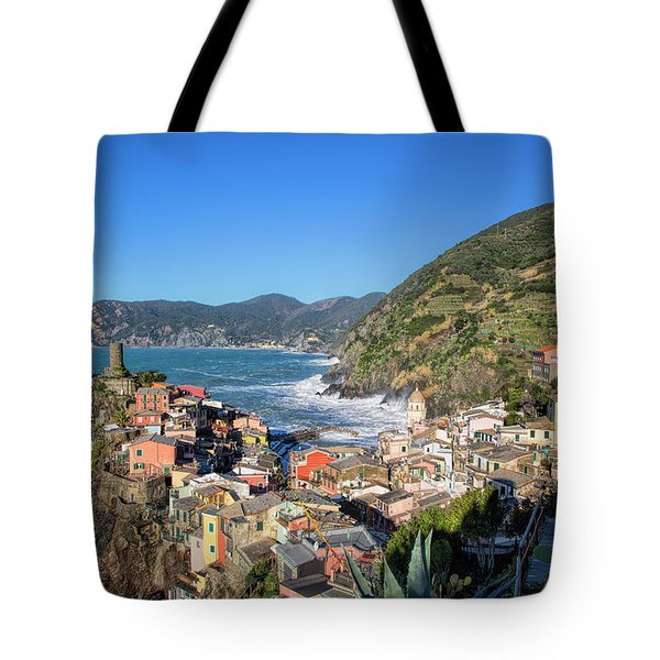 Tote Bag featuring the photograph Vernazza In Cinque Terre by Cheryl Strahl