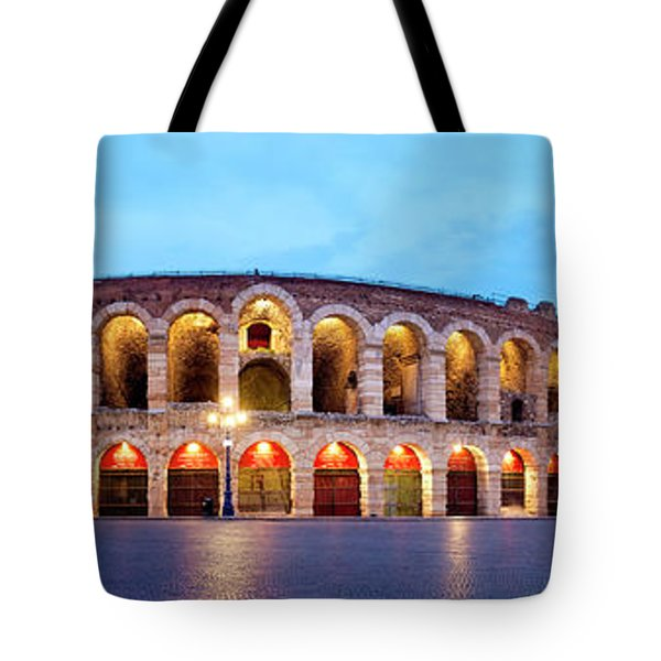 Tote Bag featuring the photograph Verona Arena by Fabrizio Troiani