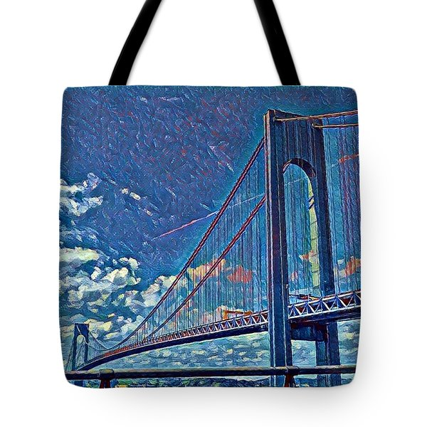 Verrazano Bridge Tote Bag