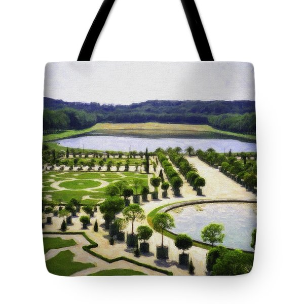 Versailles Digital Paint Tote Bag