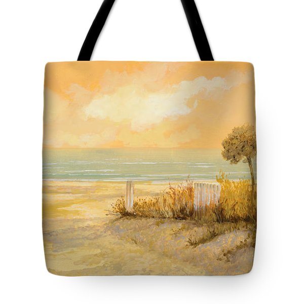 Tote Bag featuring the painting Verso La Spiaggia by Guido Borelli