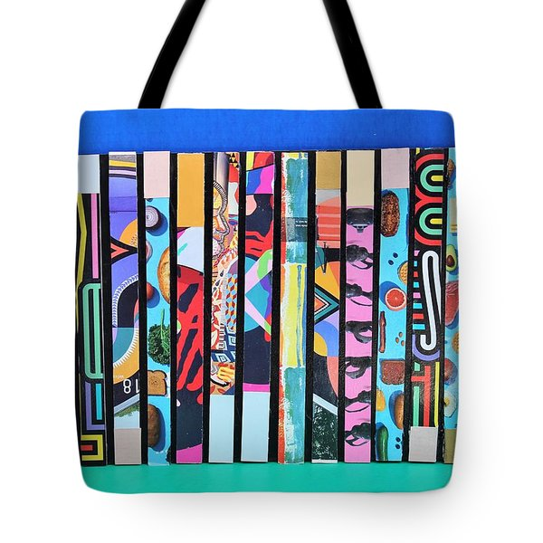 Vertical Colrs Tote Bag