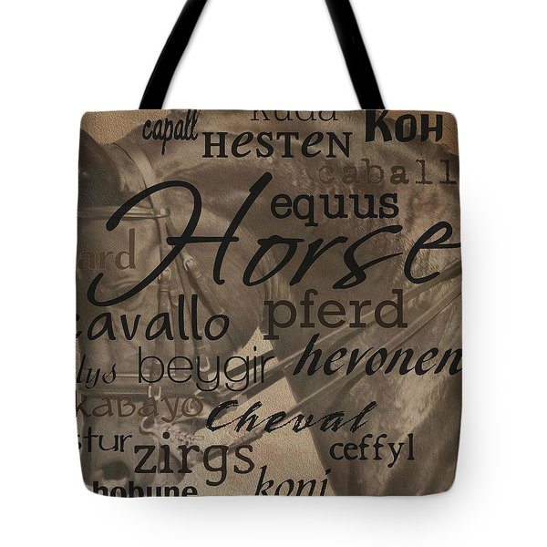 Vertical Line Equus Tote Bag