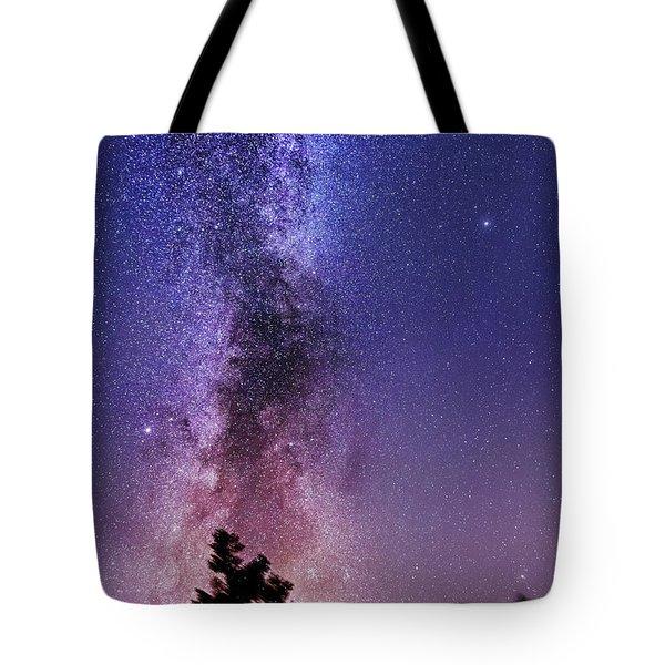 Vertical Milky Way Tote Bag