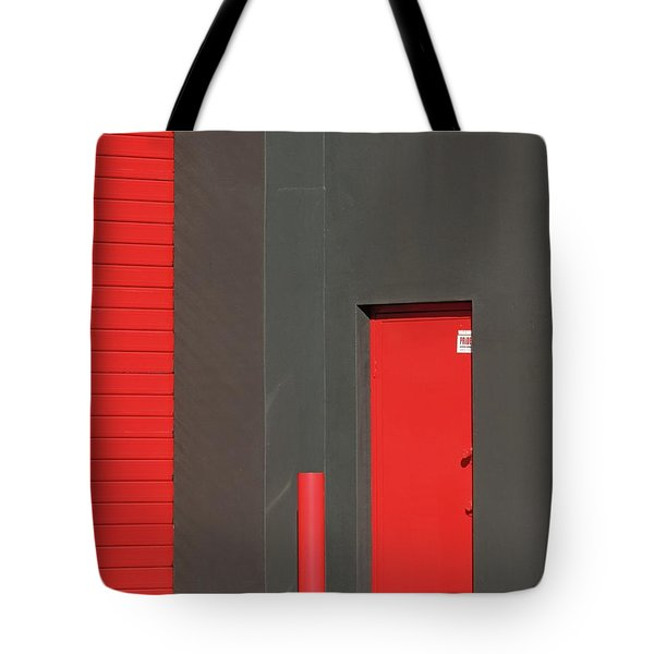 Vertical Red Tote Bag
