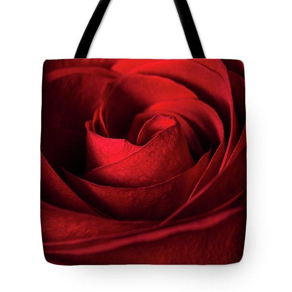 Vertical Rose Tote Bag