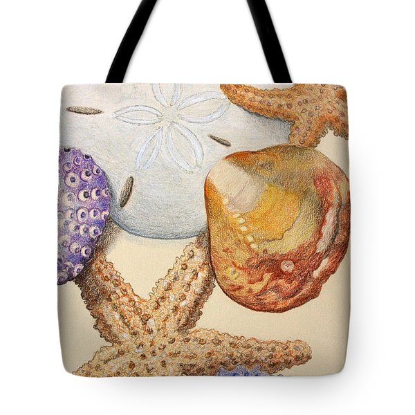 Vertical Starfish Tote Bag