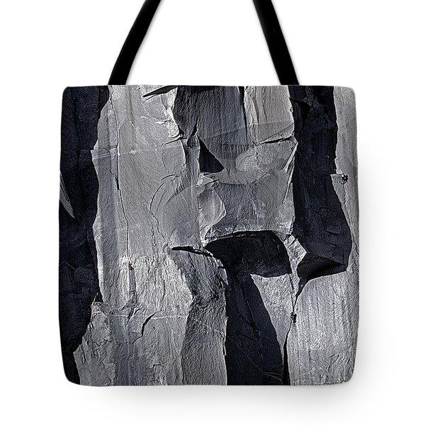 Vertical Trails Tote Bag