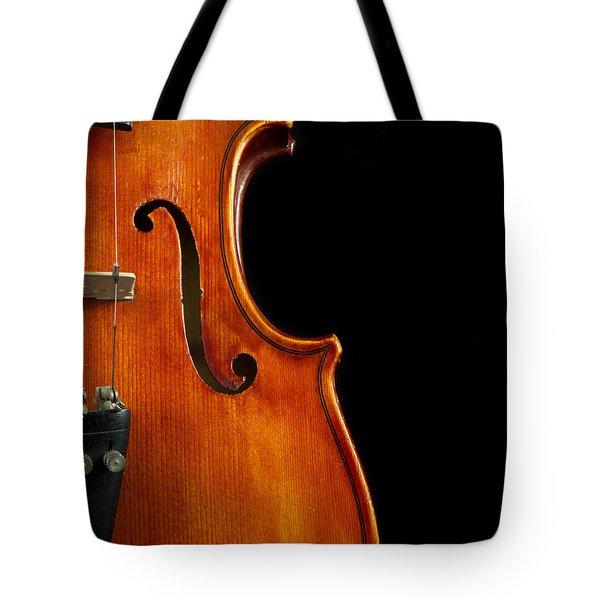 Vertical Violin Art Tote Bag