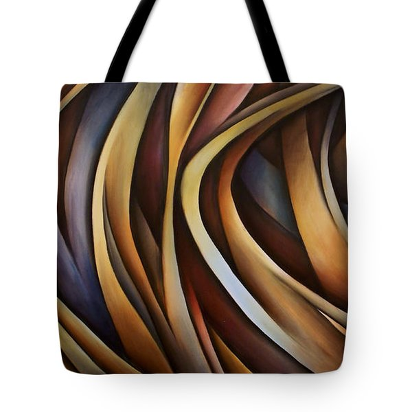 Verticle Design Tote Bag by Michael Lang