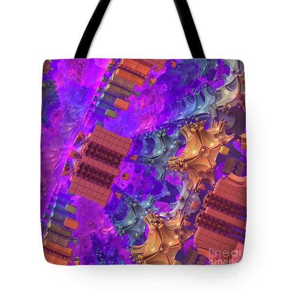 Tote Bag featuring the digital art Vertigo by Lyle Hatch