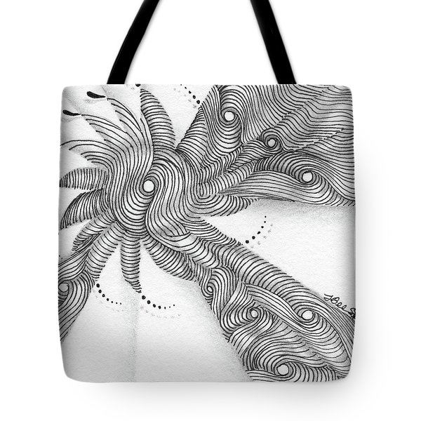 Tote Bag featuring the drawing Verve by Jan Steinle