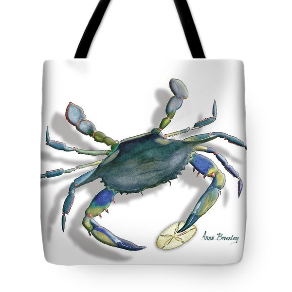 Very Blue Crab Tote Bag