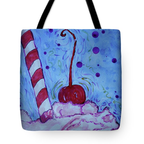 Tote Bag featuring the painting Very Cherry Soda by Jacqueline Athmann