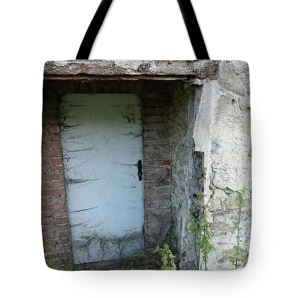 Very Long Locked Door Tote Bag