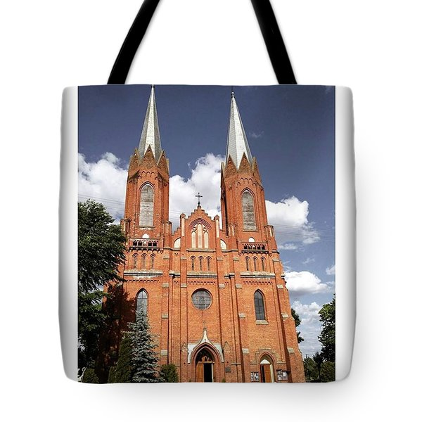 Very Old Church In Odrzywol, Poland Tote Bag by Arletta Cwalina