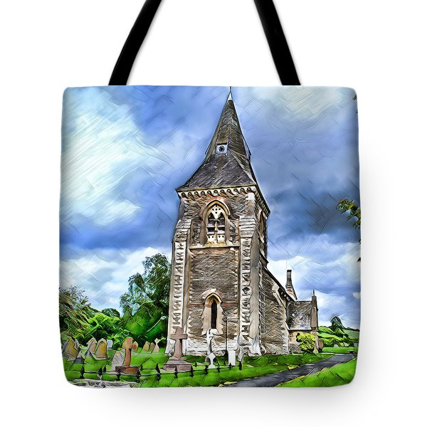 Very Old Church Tote Bag