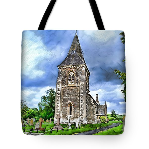 Very Old Church Tote Bag by Pennie  McCracken