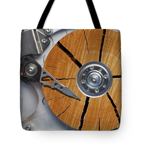 Very Old Hard Disc Tote Bag by Michal Boubin