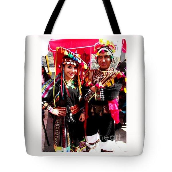 Very Proud Bolivian Dancers Tote Bag