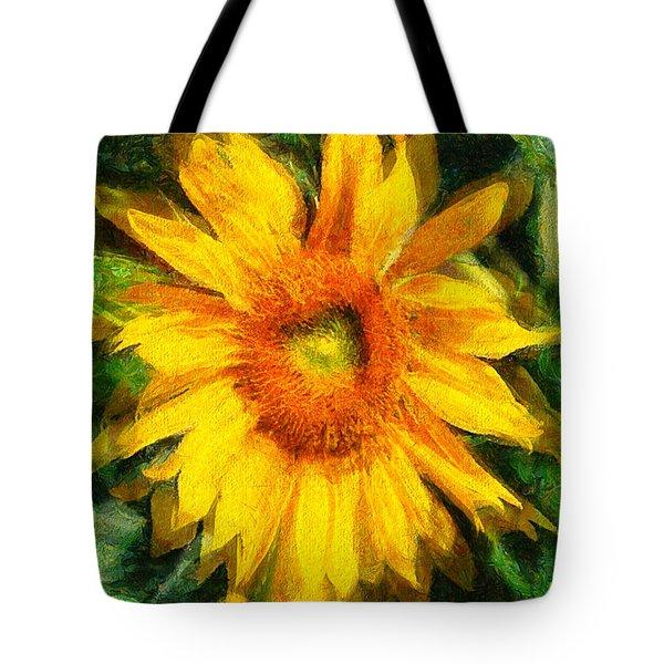Very Wild Sunflower Tote Bag