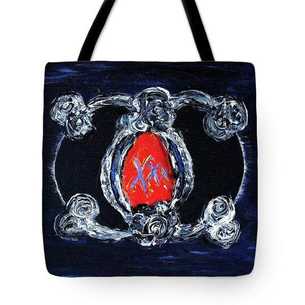 Vesica Black Suns Tote Bag