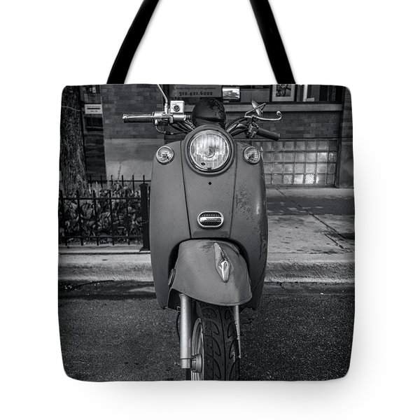 Tote Bag featuring the photograph Vespa by Sebastian Musial